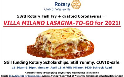Fish Fry this year will be 'Lasagna-To-Go' event